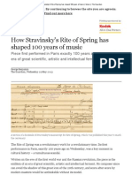 How Stravinsky's Rite of Spring Has Shaped 100 Years of Music _ Music _ the Guardian
