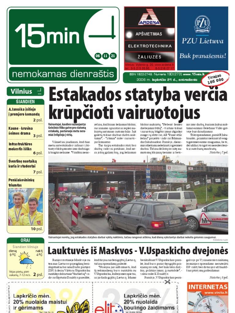 Paslaugos, darbas Vilniaus m.