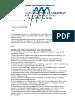 Pravilnik o tehničkim normativima za hidrantsku mrežu za gašenje požara