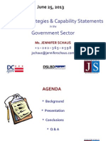 Marketing Strategies & Capability Statements for Government Contractors