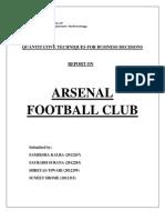 quantitative techniqes forbusiness decisions on arsenal football club