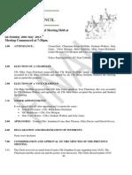 Council Minutes, May 2013.