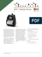Zebra QLn420 Series Mobile Printer Brochure