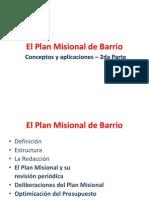 El Plan Misional de Barrio Conceptos y Aplicaciones 2da Parte