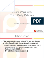 Quick wins with third party MySQL patches