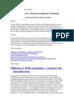 Bolivarianismo y fuerza armada.doc