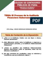 1 Proceso de Planeamiento en Auditoria Gubernamental