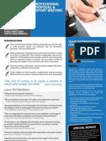 Professional Proposal & Report Writing 01 - 02 September 2013 Dubai UAE