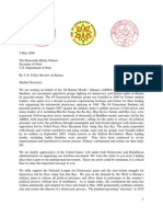 Letter to Sec. Clinton, May 5, 2009, PDF
