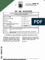 Brevet procedura de impermeabilizare bumbac si in, Vasilica Gheorghe et al.