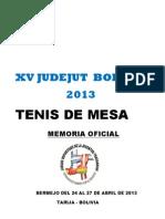 Memoria Oficial Xv Judejut 2013