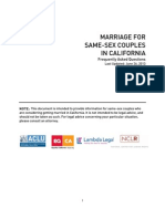 Marriage for Same-Sex Couples in California