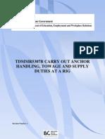 Anchore Handling Procedures Australian Gov