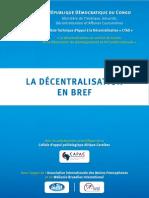 RDC - La décentralisation en bref