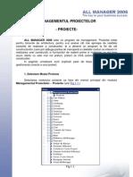 Tutorial Manager Proiecte