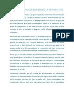 MODELOS DE PROCESAMIENTO DE LA INFORMACIÓN