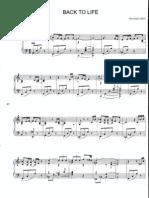 (Partition,Spartito) Giovanni Allevi - Back to Life