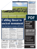 The Argus – 'Cabling threat to ancient monument'