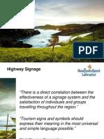 Highway Signage Presentation