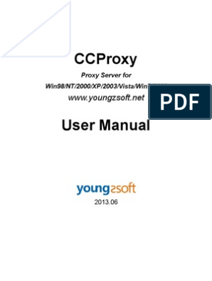 Ccproxy Manual | Proxy Server | Port (Computer Networking)