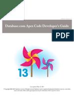 Database.com Apex Code Developer's Guide | WiMarBueno