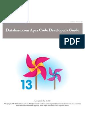 Database com Apex Code Developer's Guide | WiMarBueno