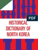 Historical Dictionary of North Korea