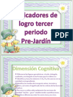 INDICACADORES DE LOGRO TERCER PERIODO PRE JARDÍN