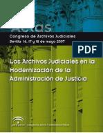 Congreso Archivos Judiciales Sevilla 16 17 y 18 de Mayo. Actas