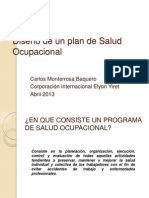 Diseño de un plan de Salud Ocupacional