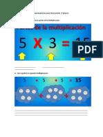 MATEMÁTICAS MULTIPLICACIÓN  3