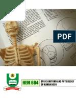 Basics of anatomy & physiology