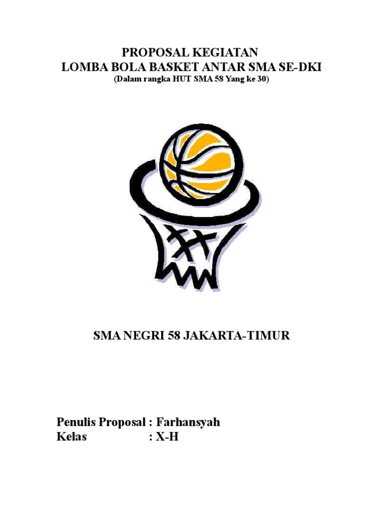 Contoh Proposal Penelitian Bola Basket