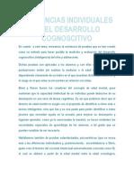Diferencias Individuales en El Desarrollocognoscitivo