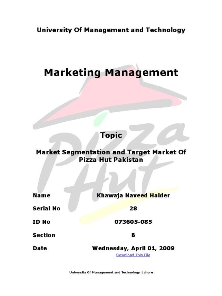 Market Segmentation Target Market And Consumer Profiling Of Pizza