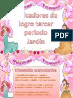 INDICADORES TERCER PERIODO JARDÍN.}