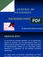 Ley General de Sociedades - La Sociedad Anonima
