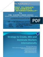 Strategy to create win and dominate market in internationally
