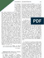 H.D. Barker - Salmanassar II (Encyclopedia)