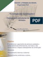 Tecnologia das Construções I - 3 - Fôrmas e Madeira