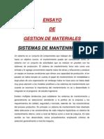 Gestion de Materiales Sistemas de Mtto