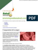 Enciclopedia Salud_ Composición de la sangre