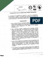 Decreto Creacion Temporales
