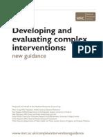 Complex Interventions Guidance