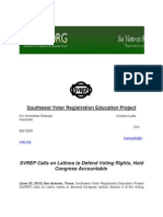 SVREP Calls on Latinos to Defend Voting Rights Hold Congress Accountable