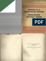 Principios de La Administracion Cientifica-f.w. Taylor -Henri f