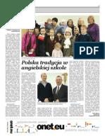 Polska Tradycja w Angielskiej Szkole