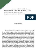 VANOYE Francis GOLIOT-LETE Anne Ensaio Sobre a Analise Filmica
