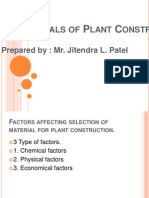 Materials of Plant Construction