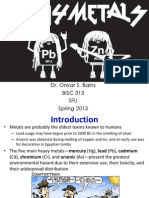 BISC 313 - Heavy Metals